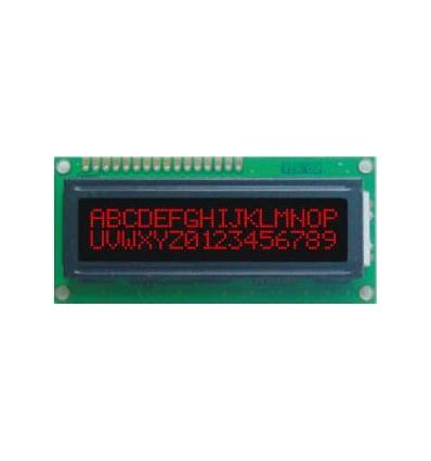LCD - 2 x 16 znaków RED